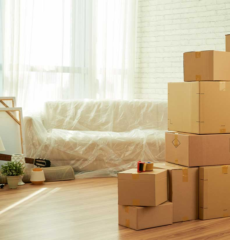 Stacked Moving Boxes | We Organize Florida - Professional Home, Office, and Retail Organizers in Southwest Florida