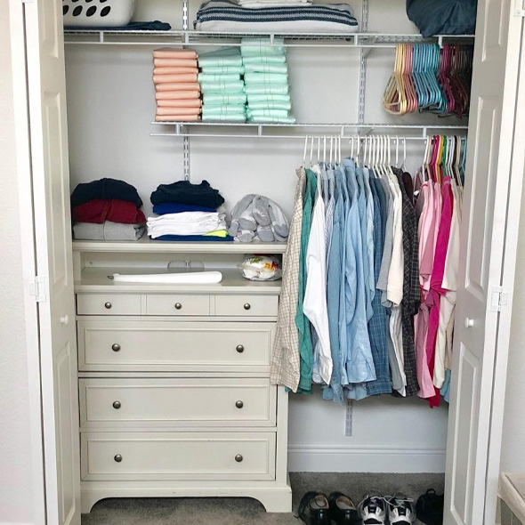 Shared Closet Organization   We Organize Florida - Professional Home, Office, and Retail Organizers in Southwest Florida